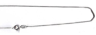 "1MM SOLID ITALIAN STERLING SILVER 925 BOX CHAIN NECKLACE 16"" 18"" 20"" 22"" 24"""