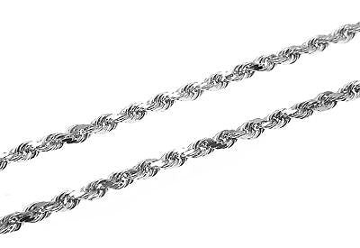 2.5MM SOLID 14K YELLOW GOLD DIAMOND CUT ROPE CHAIN ANKLET 10""