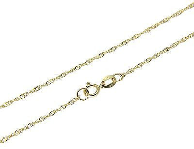 "1.5MM SOLID 14K YELLOW GOLD SINGAPORE CHAIN NECKLACE 16"" 18"" 20"" 22"" 24"""