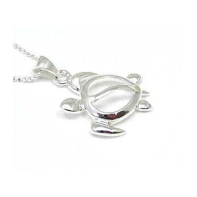 SILVER 925 HIGH POLISH HAWAIIAN HONU TURTLE PENDANT
