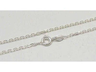 "1.8MM ITALIAN STERLING SILVER 925 ANCHOR CHAIN NECKLACE 16"" - 24"""