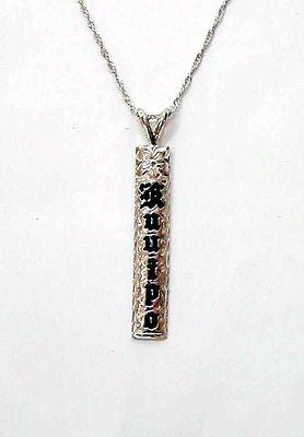 SILVER 925 CUSTOM MADE PERSONALIZED NAME HAWAIIAN HEIRLOOM PENDANT 6MM 1.5""