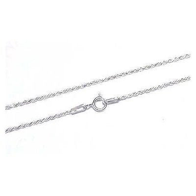ITALIAN SILVER 925 DIAMOND CUT ROPE CHAIN 1.2MM 20""