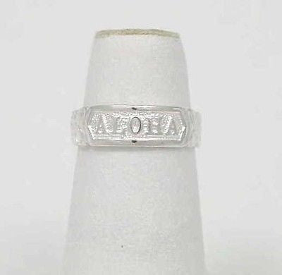 "SILVER ""ALOHA"" PLUMERIA FLOWER SCROLL TOE RING"