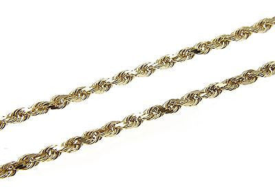 2.5MM SOLID 14K YELLOW GOLD DIAMOND CUT ROPE CHAIN BRACELET 7""