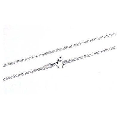 ITALIAN SILVER 925 DIAMOND CUT ROPE CHAIN 1.2MM 18""