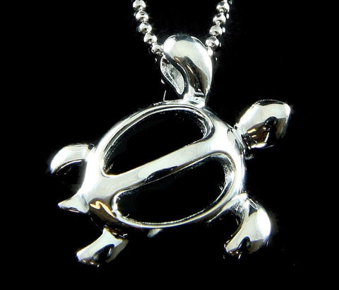925 STERLING SILVER HAWAIIAN PETRO HONU SEA TURTLE PENDANT CHARM SHINY