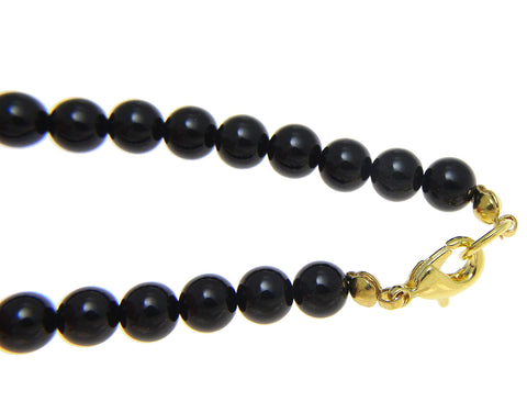 "GENUINE NATURAL BLACK CORAL BEAD BALL STRAND BRACELET OR ANKLET 10MM 6"" - 10"""