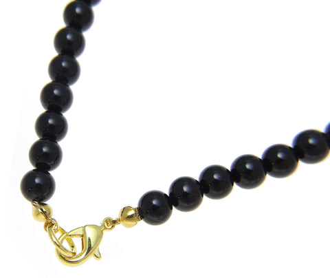 "GENUINE NATURAL BLACK CORAL BEAD BALL STRAND BRACELET 8MM 6"" - 9"""