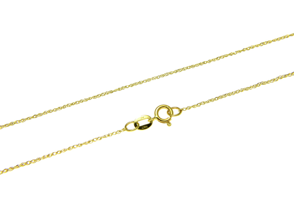 "14K SOLID YELLOW GOLD 0.7MM ROPE CHAIN NECKLACE 16"" 18"" 20"""