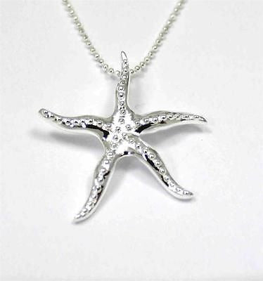 STERLING SILVER 925 HAWAIIAN STARFISH SLIDER PENDANT