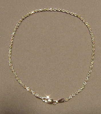 2MM SOLID 14K YELLOW GOLD DIAMOND CUT ROPE CHAIN BRACELET 7""