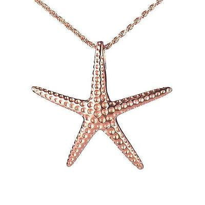 29MM ROSE GOLD PLATED STERLING SILVER 925 HAWAIIAN STARFISH SLIDER PENDANT