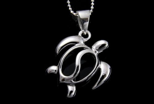 STERLING SILVER 925 SHINY HAWAIIAN HONU TURTLE PENDANT 18MM