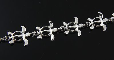 925 STERLING SILVER HAWAIIAN HONU SEA TURTLE BRACELET SIZE 7 1/2""