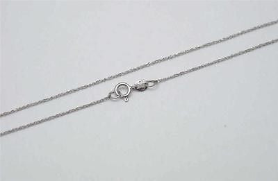 14K SOLID WHITE GOLD 0 7MM ROPE CHAIN NECKLACE 16