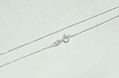 1MM ITALIAN STERLING SILVER 925 DIAMOND CUT BALL BEAD CHAIN NECKLACE 16""
