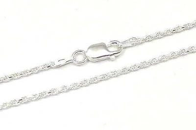 "ITALIAN STERLING SILVER 925 DIAMOND CUT ROPE CHAIN NECKLACE 1.4MM 14"" 16"" 18"" 20"""