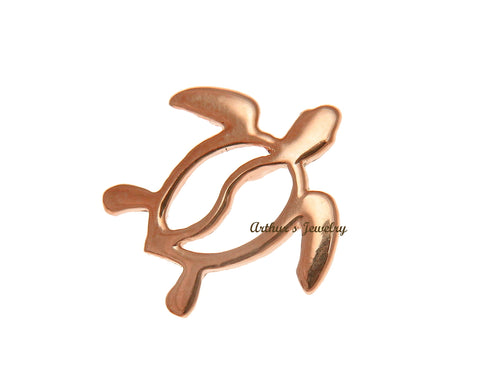 SOLID 14K ROSE GOLD HAWAIIAN HONU TURTLE SLIDE PENDANT 16MM