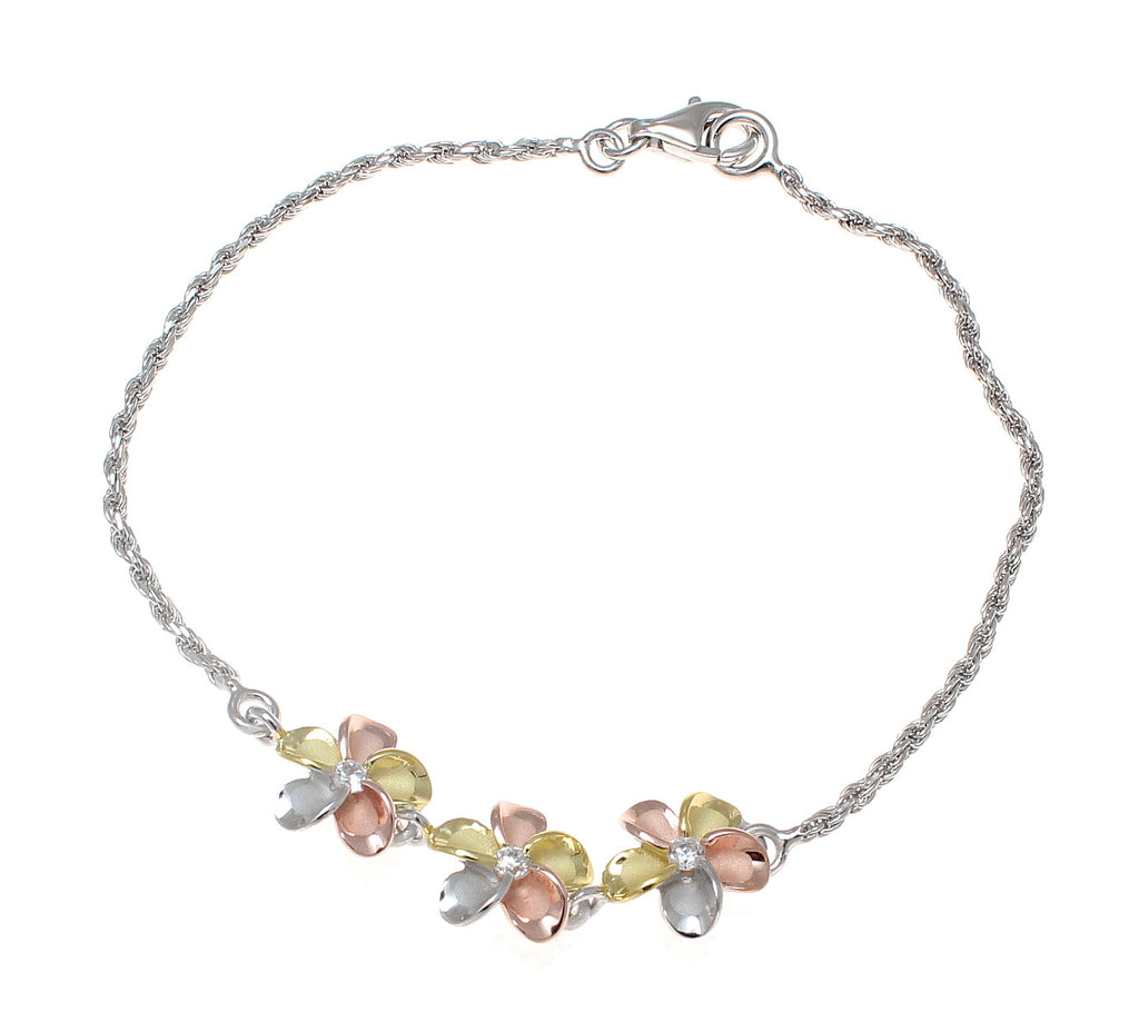 s anklets ygp silver p price lowest foot plumeria hawaii anklet brand new cz flower sterling chain