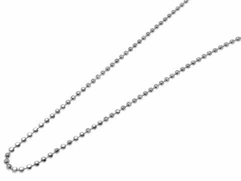 "1.2MM ITALIAN STERLING SILVER 925 DIAMOND CUT BEAD BALL CHAIN NECKLACE 16"" 18"" 20"""