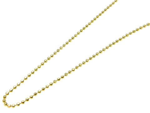 "1.2MM YELLOW GOLD ITALIAN STERLING SILVER 925 DIAMOND CUT BEAD BALL CHAIN 16"" 18"" 20"""