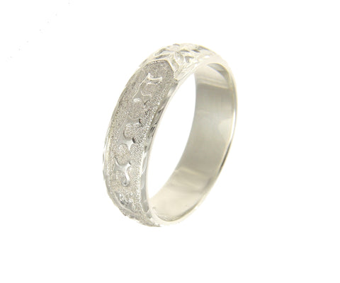 925 SILVER PERSONALIZED CUSTOM MADE 6MM HAWAIIAN SCROLL RING BAND RAISED LETTER