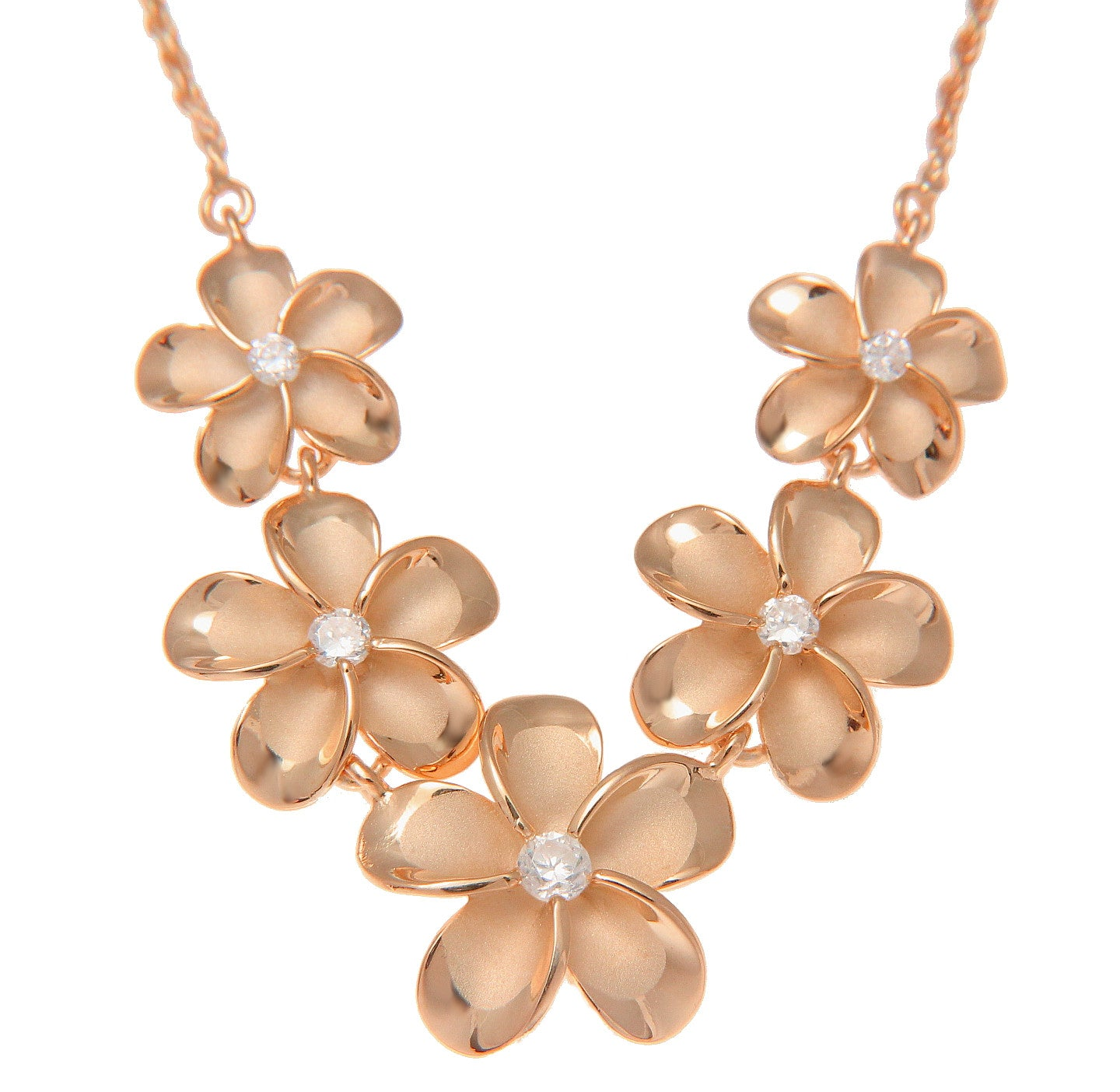 Pu\u02bbuhonua Lei Rose Gold Made In Hawaii Hibiscus Jewelry Hawaiian Pendant Flower Necklace Sterling Silver w Rose Gold Hibiscus
