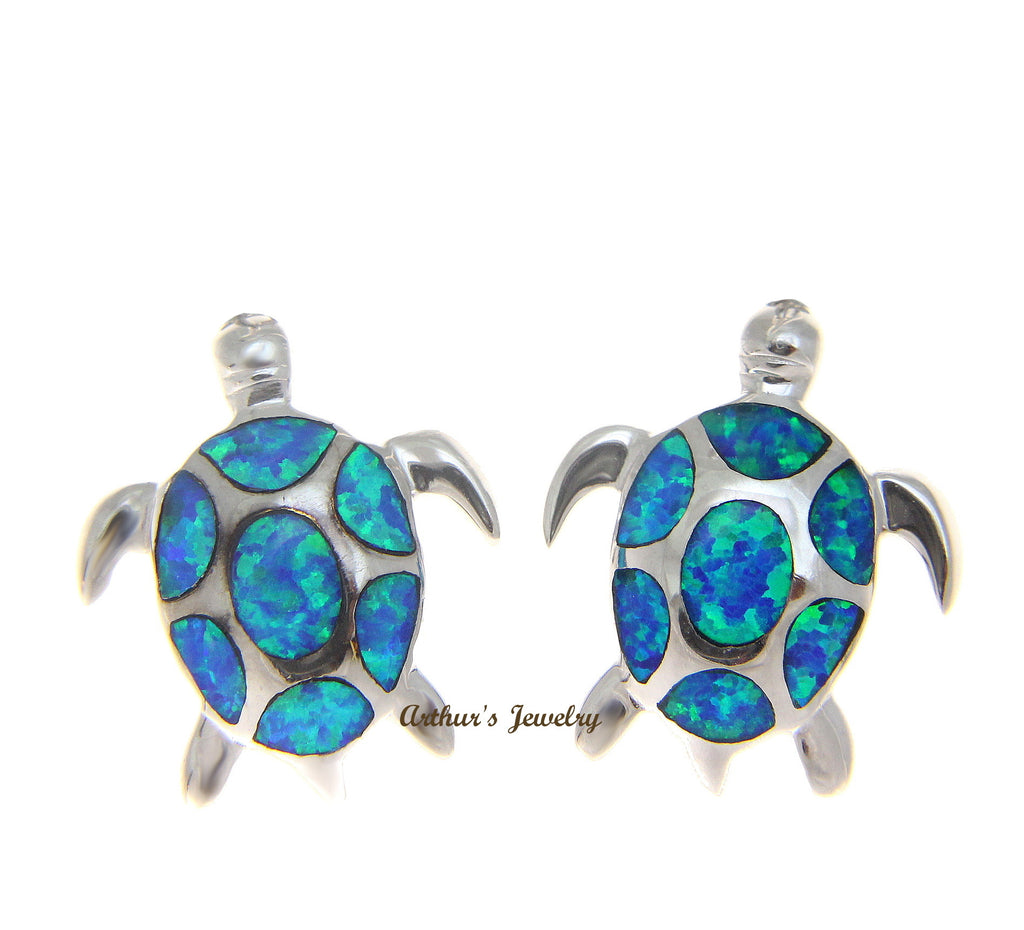 products small fire opal fashion blue stud sea double junxin female earring turtle gold black trendmarvels jewelry filled earrings