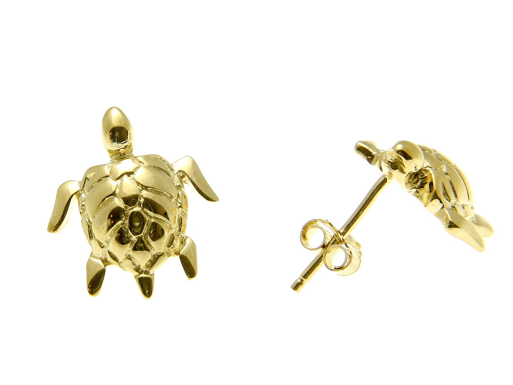 solid views reef tiny silver jewellery stud earrings more turtle er finished