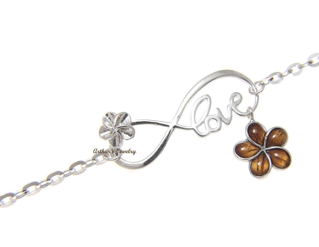 hawaii in cz plumeria sparkle with yellow anklet