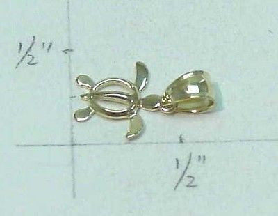 14K SOLID YELLOW GOLD HAWAIIAN BABY HONU TURTLE CHARM PENDANT