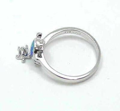 INLAY OPAL SILVER 925 HAWAIIAN HONU SEA TURTLE DANGLE BABY HONU RING SIZE 5-10
