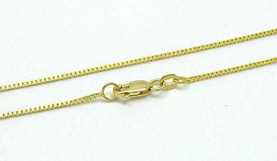 "1MM 14K SOLID YELLOW GOLD ITALIAN BOX CHAIN NECKLACE LOBSTER CLASP 16""-24"""