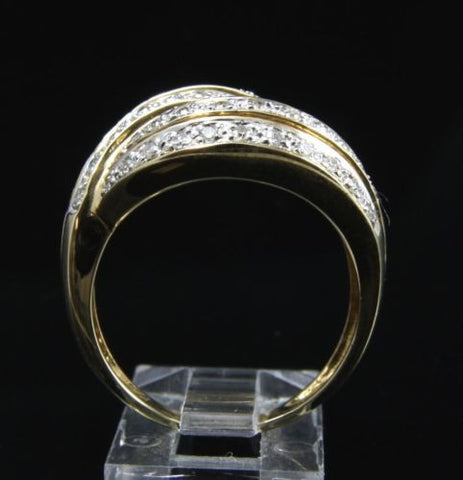 0.45CTW GENUINE DIAMOND COCKTAIL RING IN SOLID 14K YELLOW GOLD