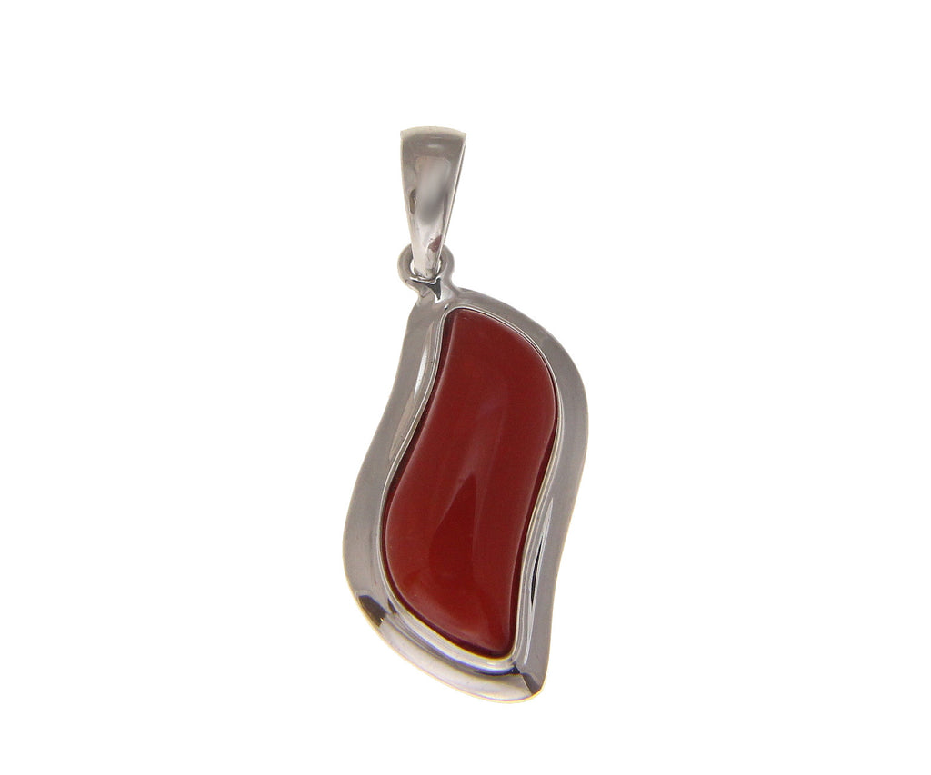 is natural s genuine image cabochon solid pendant gold white itm coral red loading
