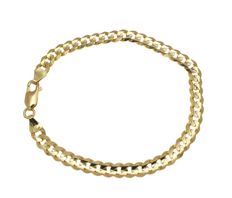 SOLID 14K YELLOW GOLD MADE IN ITALY CUBAN CURB LINK BRACELET 8.25 INCH 5.93MM