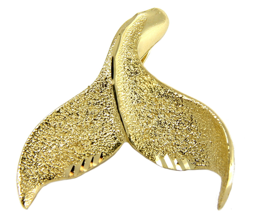 Whale Tail Pendants Solid 14k yellow gold hawaiian diamond cut whale tail slide pendant solid 14k yellow gold hawaiian diamond cut whale tail slide pendant 2480mm audiocablefo