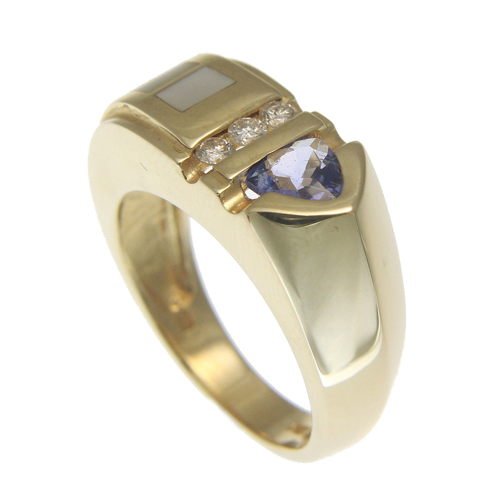 diamonds rings with custom yellow g and round stones tanzanite catalog gold ring carat trillion engagement