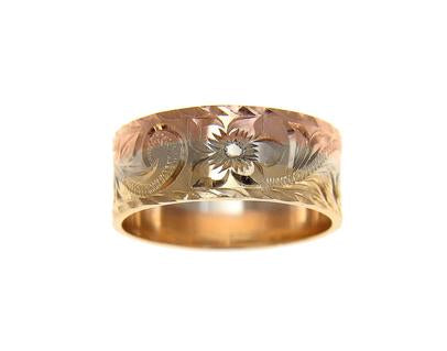 14K Gold Custom Made Hawaiian Ring