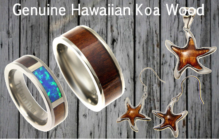 Hawaiian Koa Wood Jewelry