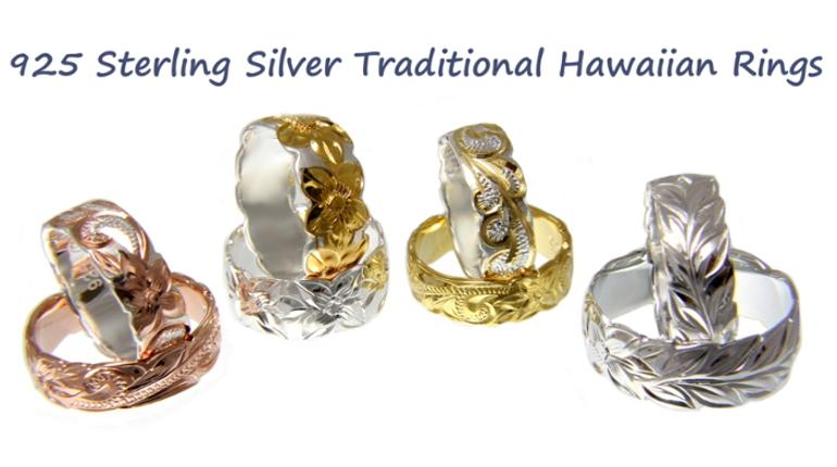 Sterling Silver Hawaiian Rings