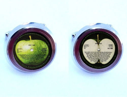 The Beatles Abbey Road retro Record Label Cuff Links silver tone , Apparel - n/a, Final Score Products  - 1