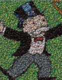 Monopoly Rich Uncle Pennybags Bottlecap mosaic print , 1990-Now - n/a, Final Score Products  - 1