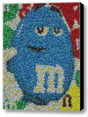 Framed Blue MM M&Ms guy mosaic 9X11 inch Limited Edition Art Print w/COA , M&M's - mm, Final Score Products  - 1