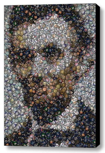 Amazing Framed Abe Lincoln Political Button  mosaic print Limited Edition w/COA
