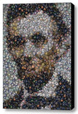 Amazing Framed Abe Lincoln Political Button  mosaic print Limited Edition w/COA , 1861-65 Abraham Lincoln - n/a, Final Score Products  - 1