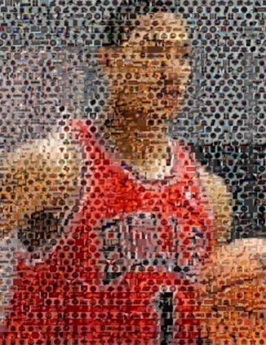 Amazing Chicago Bulls Derrick Rose NBA Montage w/COA , Basketball-NBA - n/a, Final Score Products  - 1