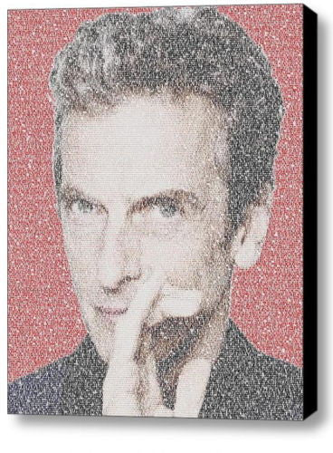 Dr. Who Doctor Quotes Peter Capaldi Word Mosaic Framed 9X11 Limited Edition Art