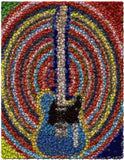 Amazing Electric Guitar Bottlecap mosaic Bar wall print , Electric - n/a, Final Score Products  - 1